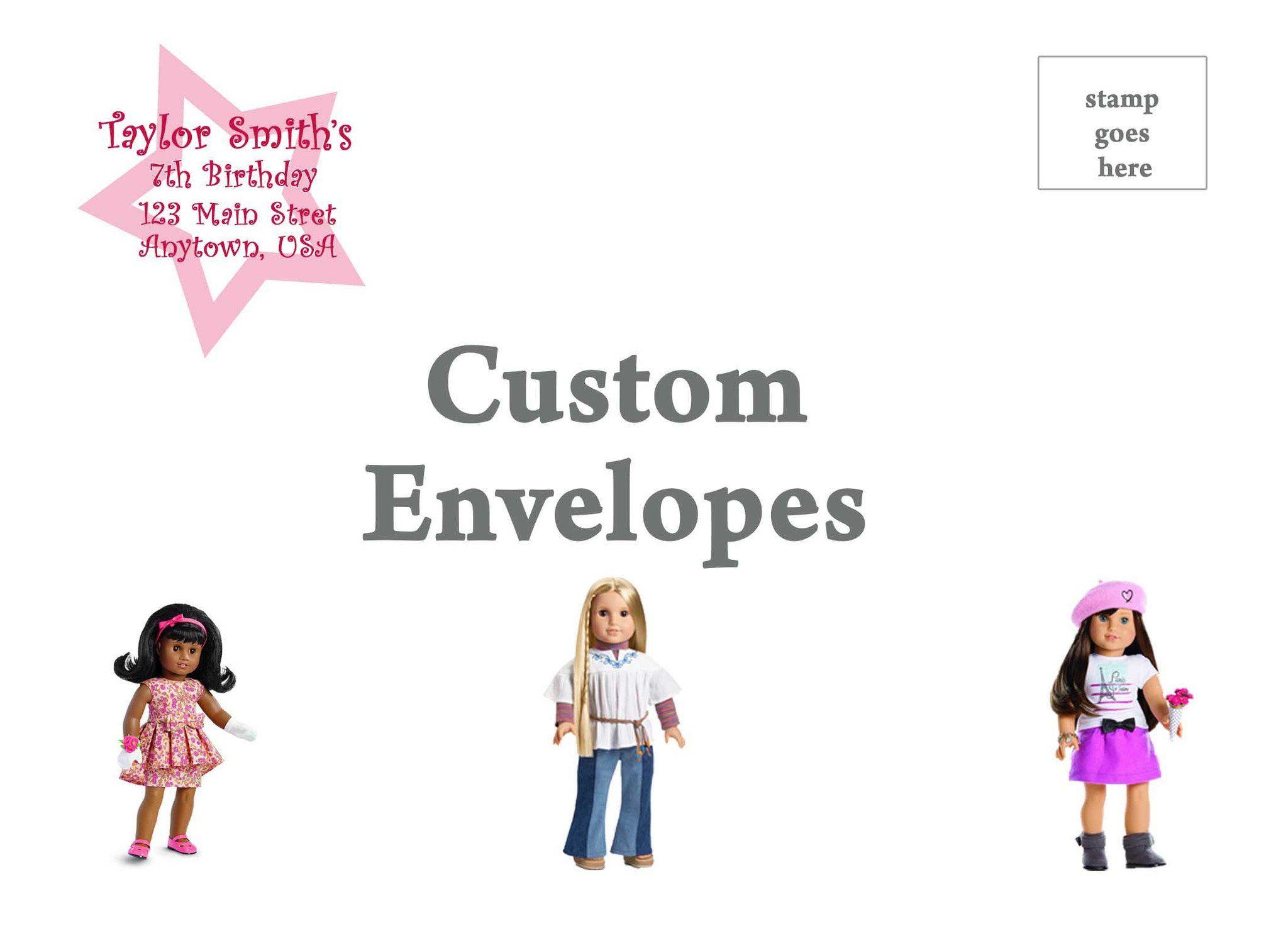 American Girl Birthday Invitation   Products   Pinterest   American ...