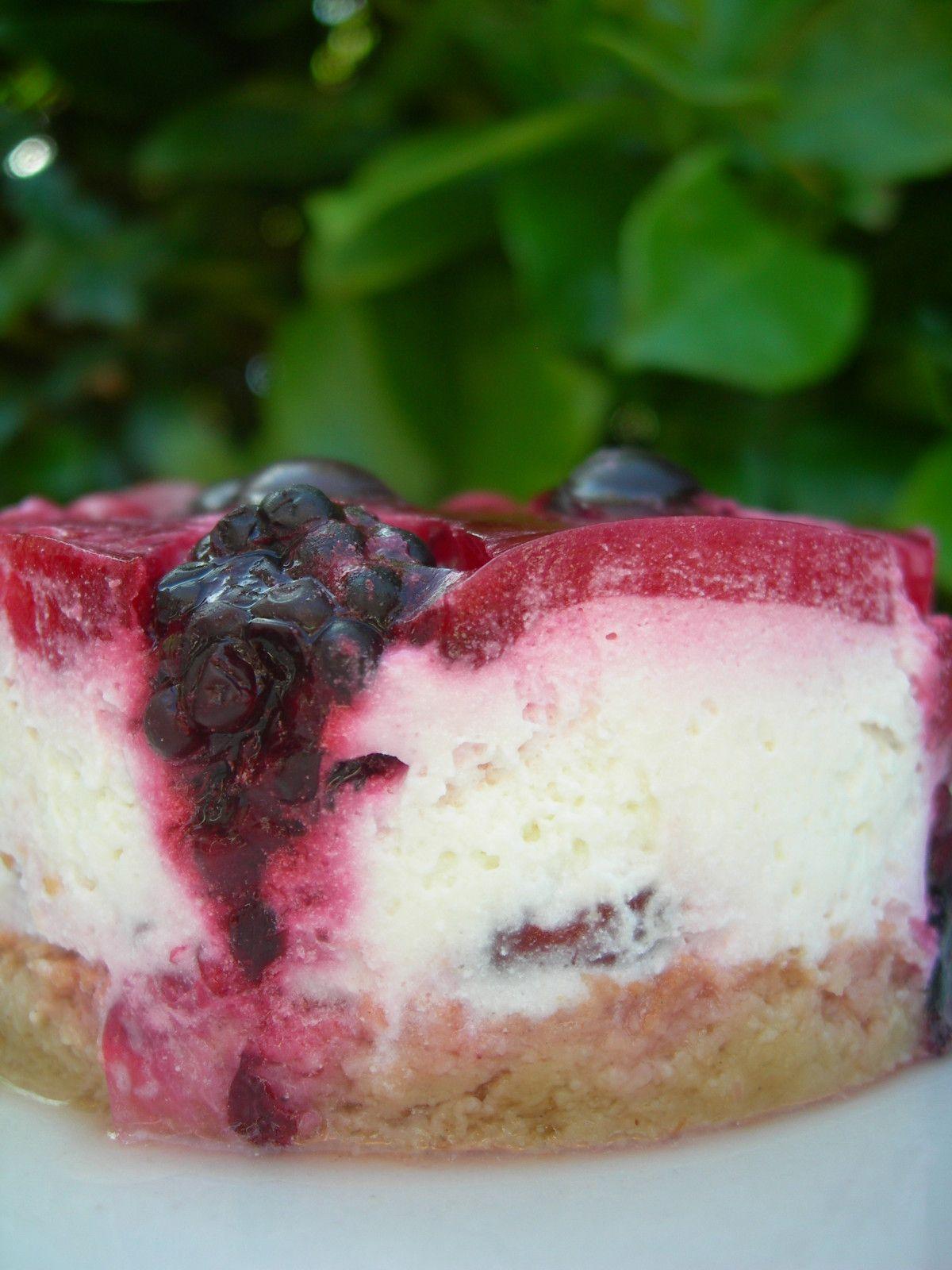 là faut vraiment s'y faire, on va pas vers le beau temps...et un petit gâteau au fromage blanc et aux fruits rouges pour te requinquer la maussaderie!! - le plaisir de gourmandise