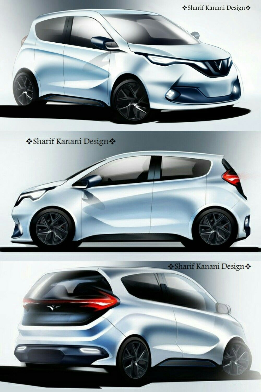 #Kanani_Motors #Cars #Design #Exterior #Sketch #Carsketch #Cardesign #Cardesigner #Automobile #Automotive #Vehicle #Render #Rendering #Micro #Hatchback #Model