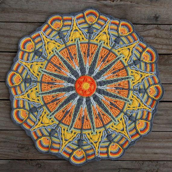 Crochet Overlay Mandala No 6 Pattern Pdf In Englis Deutsch