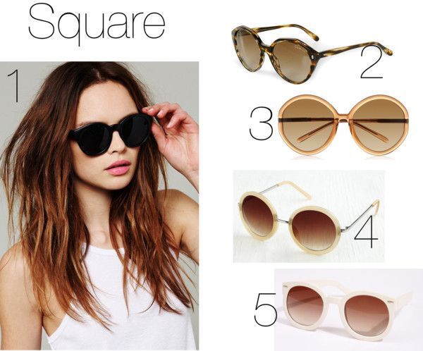 Shaped Sunglasses Sunglasses For FacesPolyvore FacesPolyvore Square Sunglasses For Shaped Square gYbf7vy6