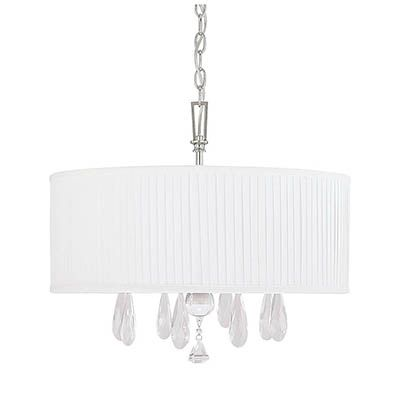 Capital Lighting 4488PN-574-CR Alisa 4-Light Chandelier in Polished Nickel Finish $240