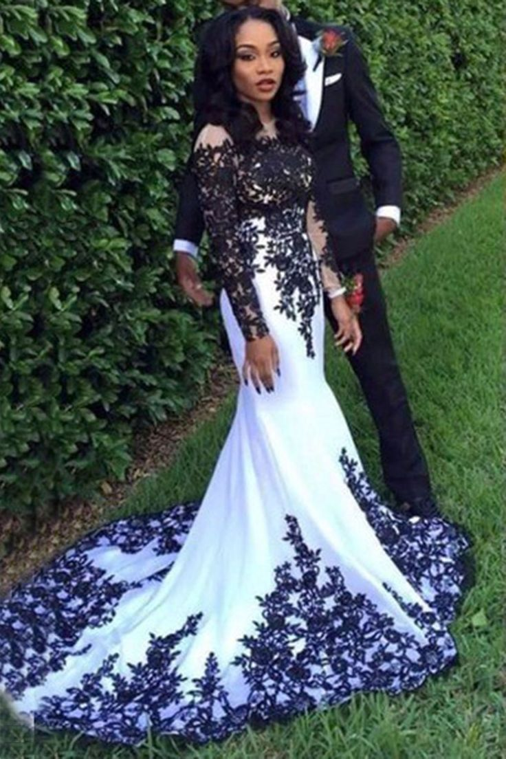 Evening Gown With Sleeves Chiffon Prom Dress Ball Gown White Chiffon Black Lace Floor Evening Dresses Long Evening Gowns With Sleeves Prom Gown With Sleeves [ 1104 x 736 Pixel ]