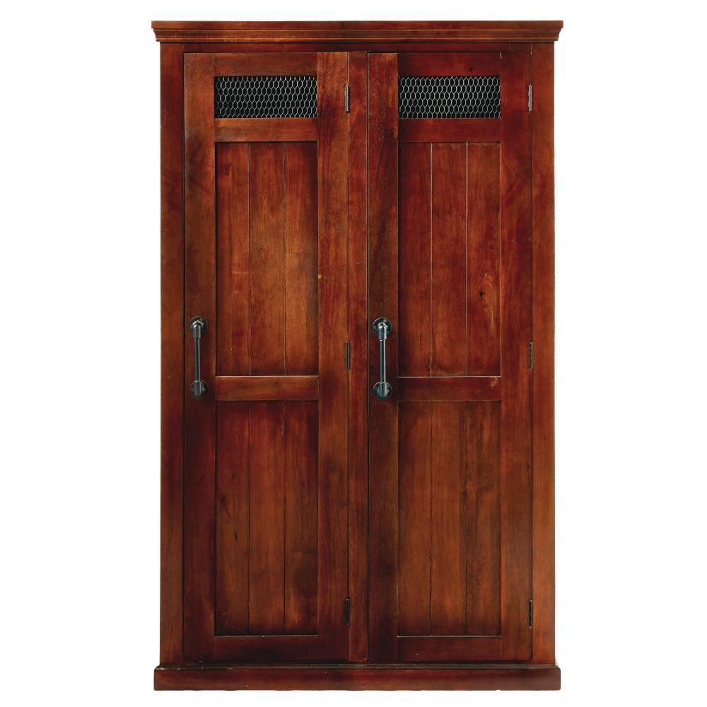 Home Decorators Collection Ethan 2 Door Wooden Storage Locker In Brown 9905000820 The Depot