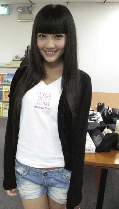 Asian With Long Hair With Bangs The Mane Affair Long - Asian hairstyle with bangs