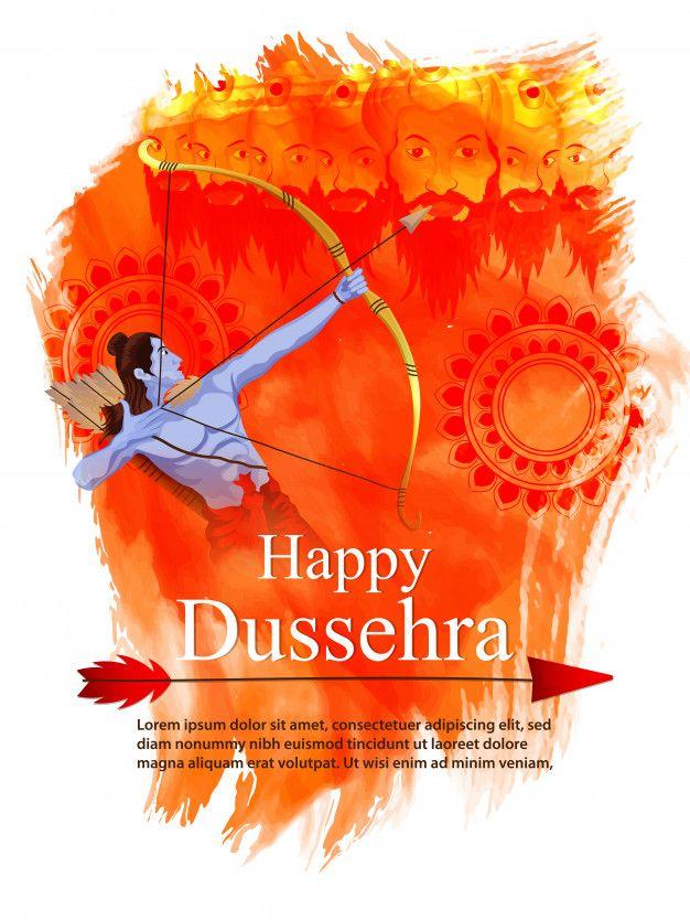 Orange Background For Dussehra Festival