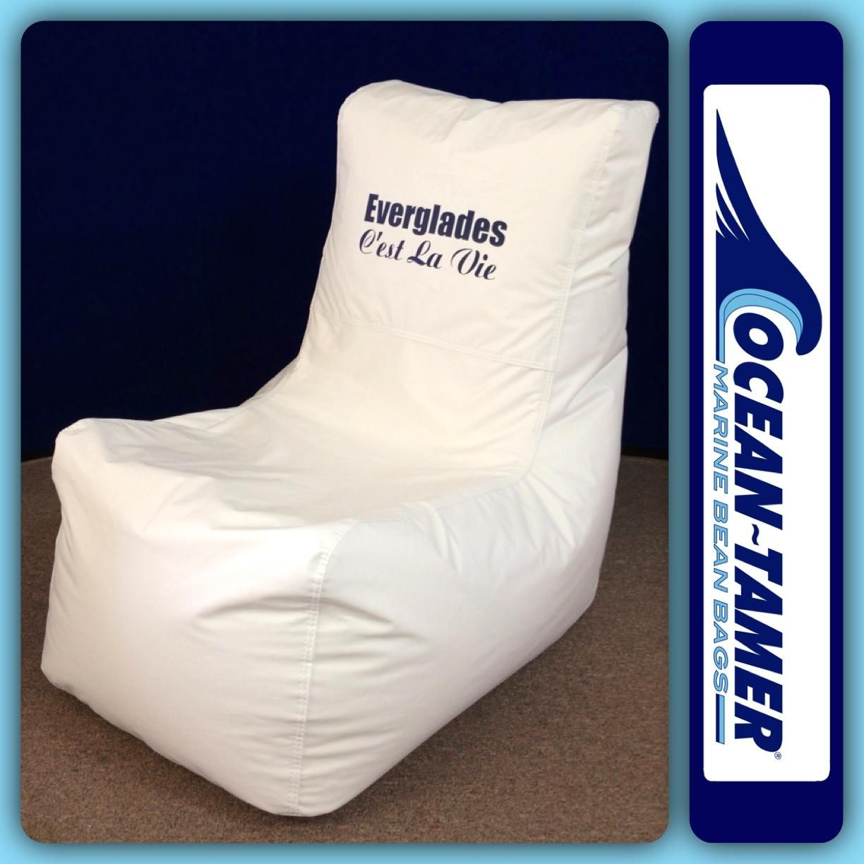 Ocean Tamer Wedge Marine Bean Bag Customized With The Official Everglades Boats Logo And