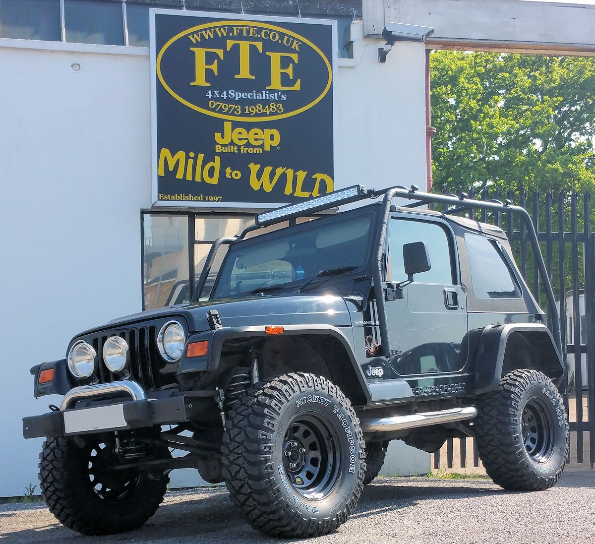 Jame S Wrangler Tj From A Different Angle It Has Been Fitted With