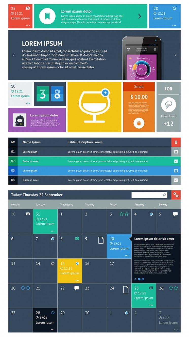 15 Premium Flat Ui Design Templates Boost Your Production Flat