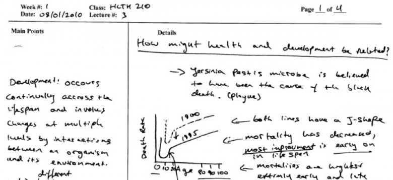 Helps a lot with note taking! The Cornell Note Method College - cornell note