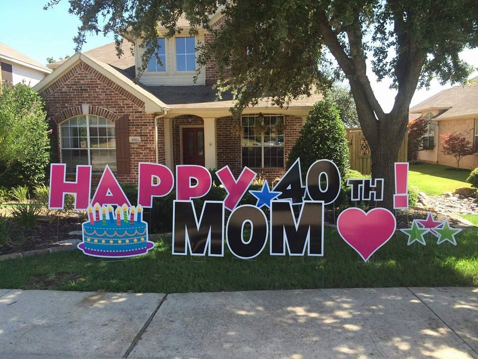 Announce big news with yard greeting signs home