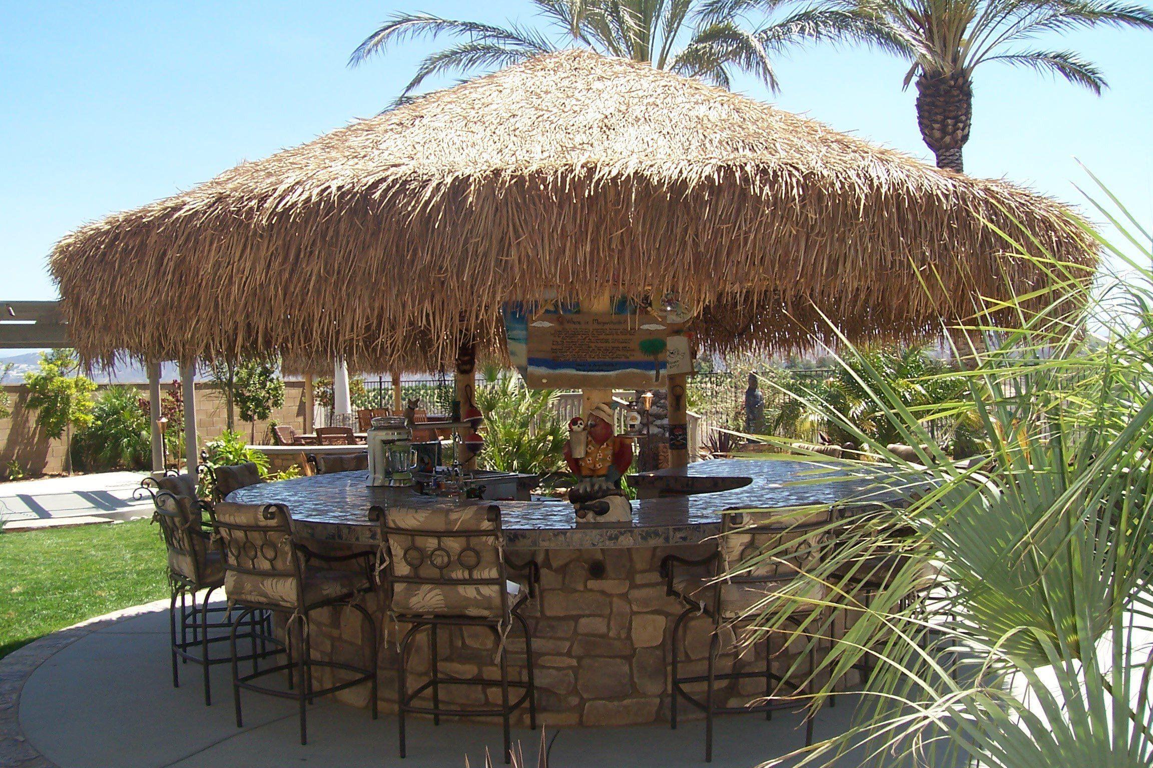 Mexican Palm Thatch Umbrella Cover 9