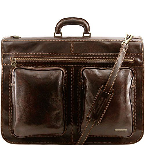 Special Offers Tuscany Leather Tahiti Garment Bag Dark Brown In Stock