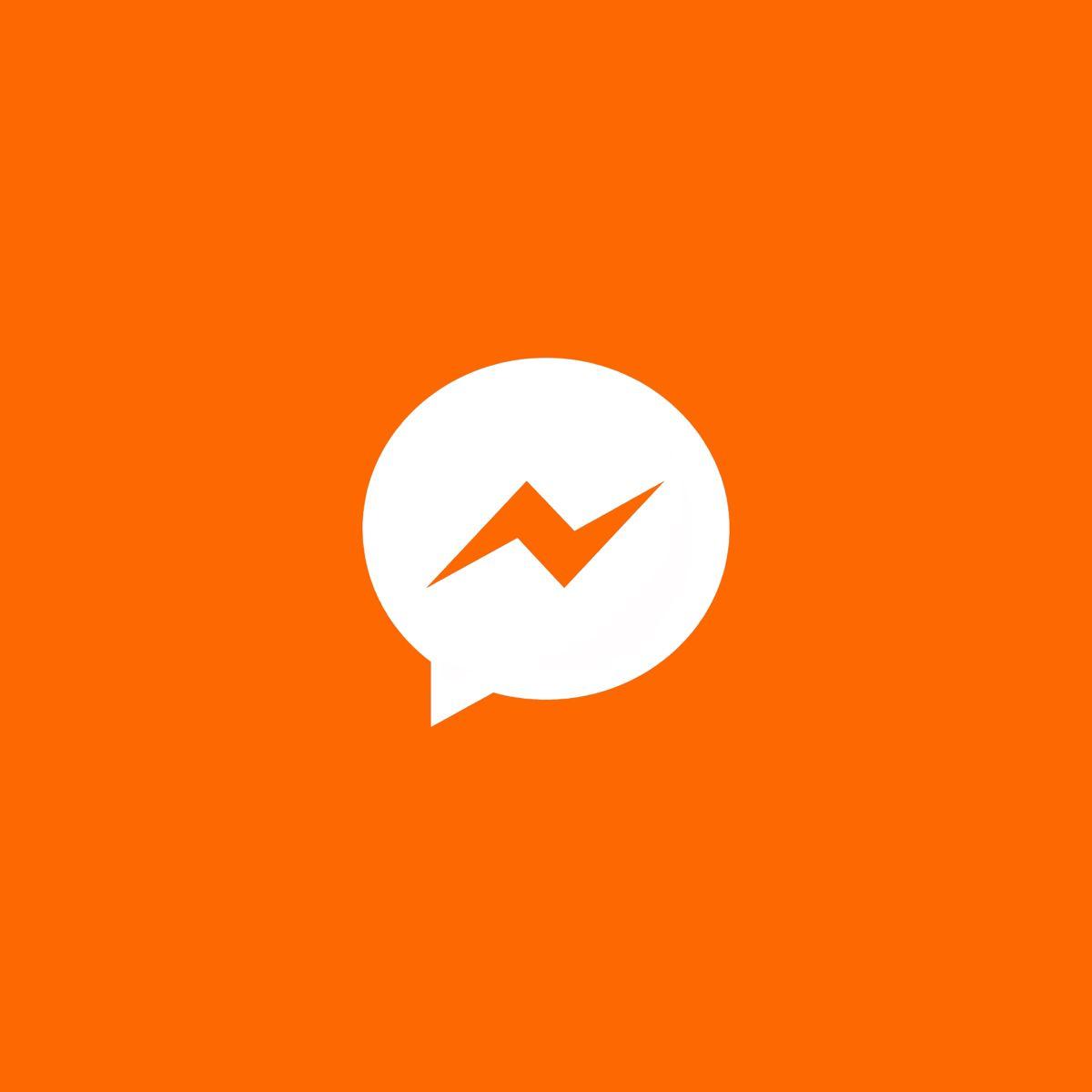 Facebook Messenger Icon Orange Icons Orange Messenger Icon Ios App Icon Design