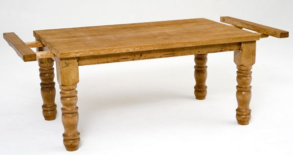 Reclaimed Furniture Dining Table Design I Like The Pull Out Extension