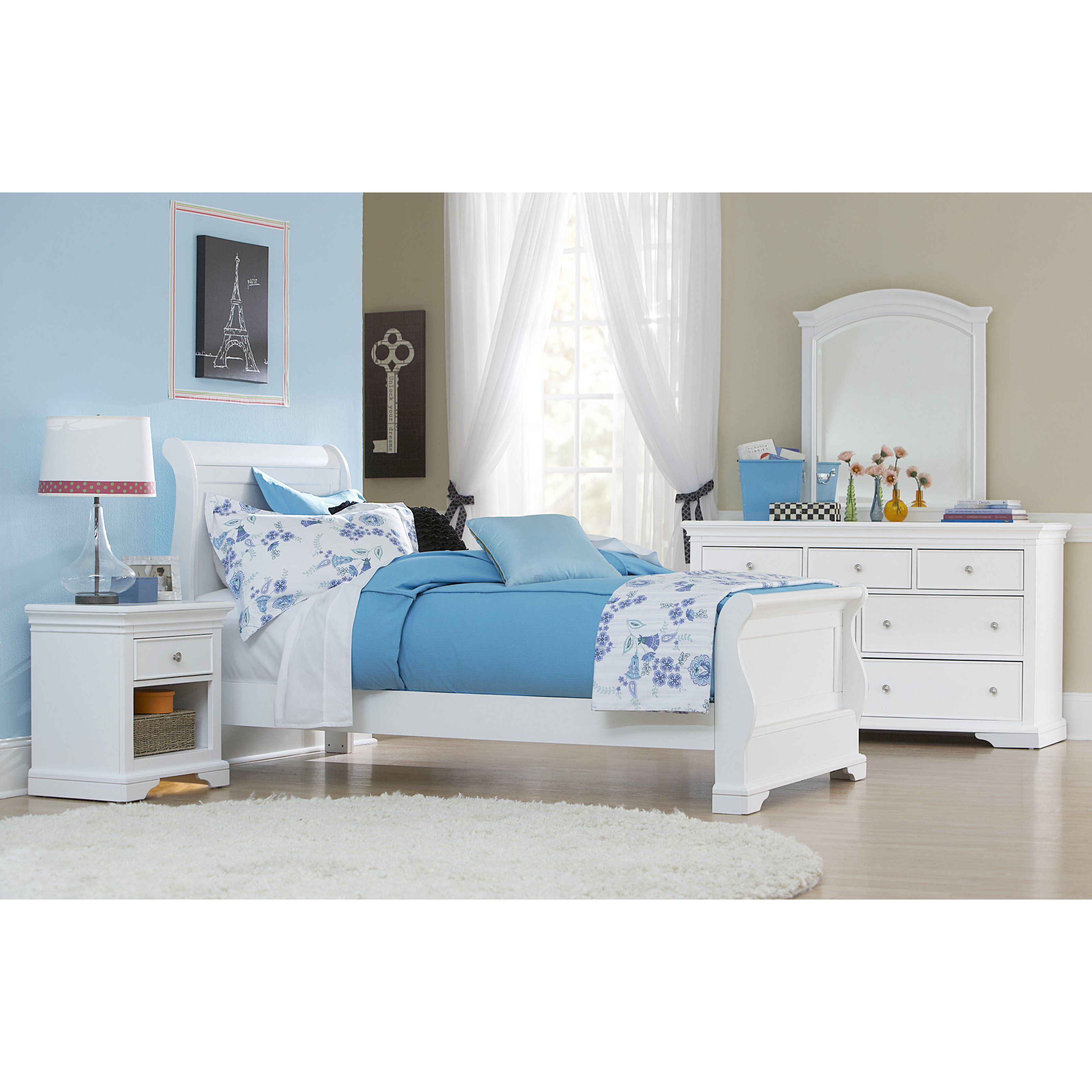 Have To Have It Walnut Street Riley Sleigh Bed White