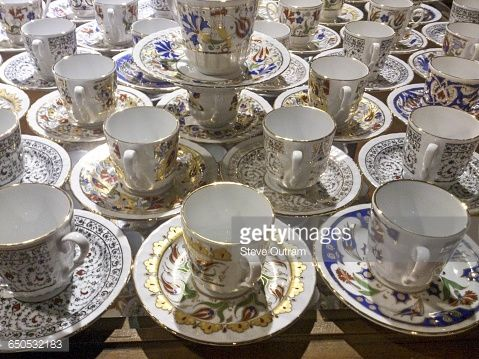 Ceramic Cups and Saucers for Turkish Coffee, Istanbul,... #istan: Ceramic Cups and Saucers for Turkish Coffee, Istanbul, Turkey…… #istan