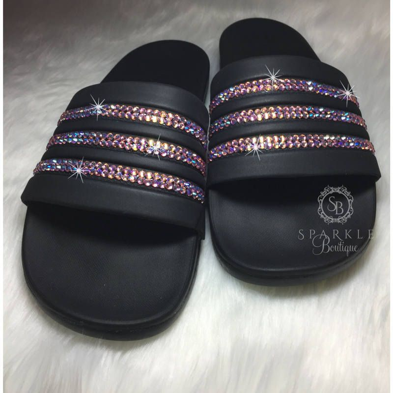 new product 3a316 0b3c7 Swarovski adidas Slides, PINK, Bedazzled, Adilette Cloudfoam Ultra, Custom,  adidas Bling, All Sizes, SparkleBoutique2U by SparkleBoutique2U on Etsy