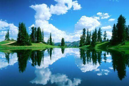 На отражение в воде готов смотреть часами   Живописные ...
