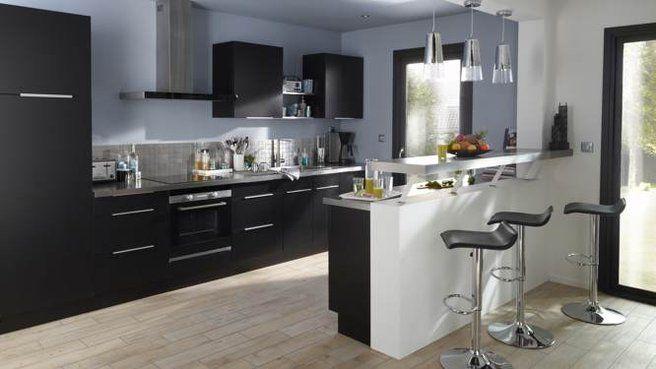 Quelles couleurs choisir pour une cuisine ouverte ? Cuisine and Bar - idee bar cuisine ouverte