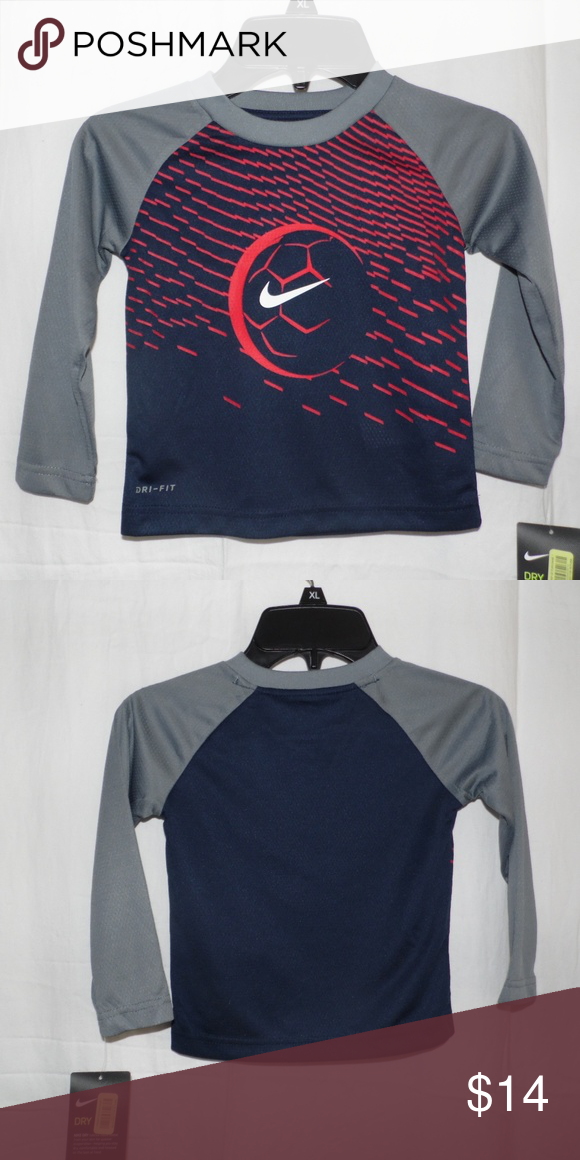 bb1a4057e Nike Dri Fit Boys Soccer Shirt Size 2T Brand new with tags Nike Dri Fit  Long Sleeve Blue Gray Soccer Shirt Size 2T Nike Shirts & Tops Tees - Long  Sleeve