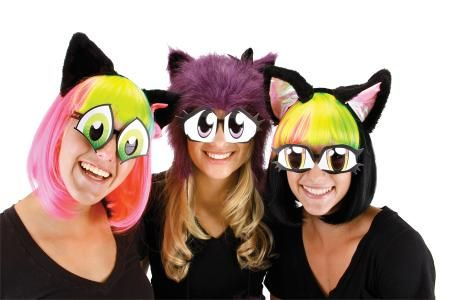 Cartoon Eyes Costume Glasses Set Of 6 In Eyewear Convey Almost Any Expression With This Sure To Please Anime Fan