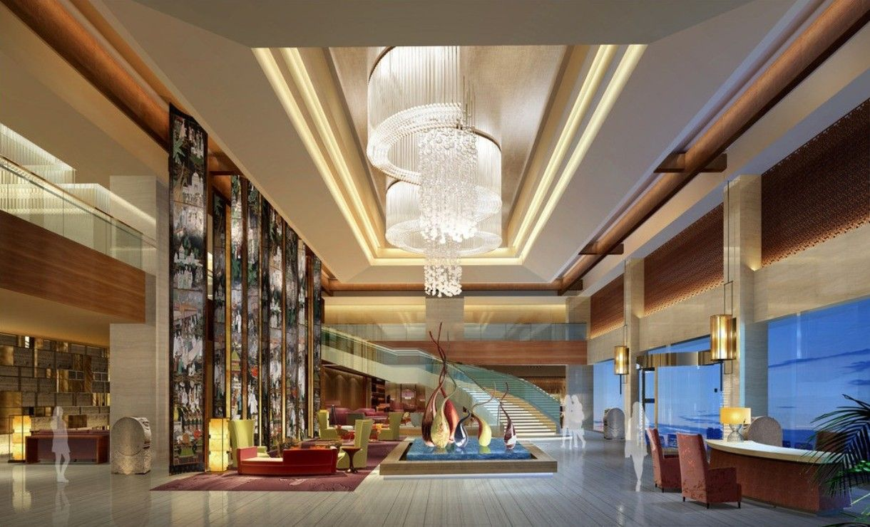 Extravagant modern hotel lobby 6 ways hotel lobbies for Lobby ceiling design