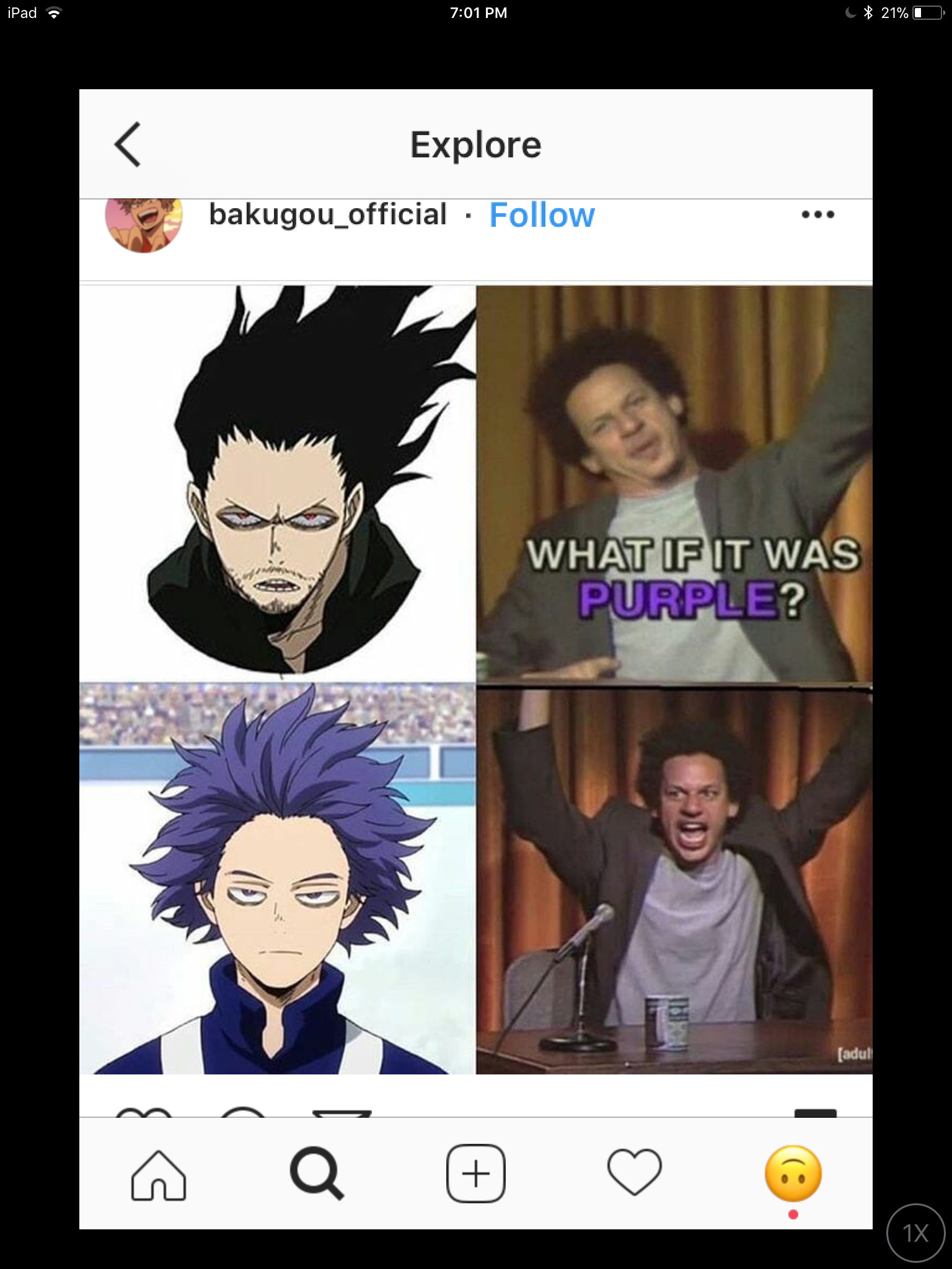 Best meme I saw in instagram I needed to share😂 bnha My