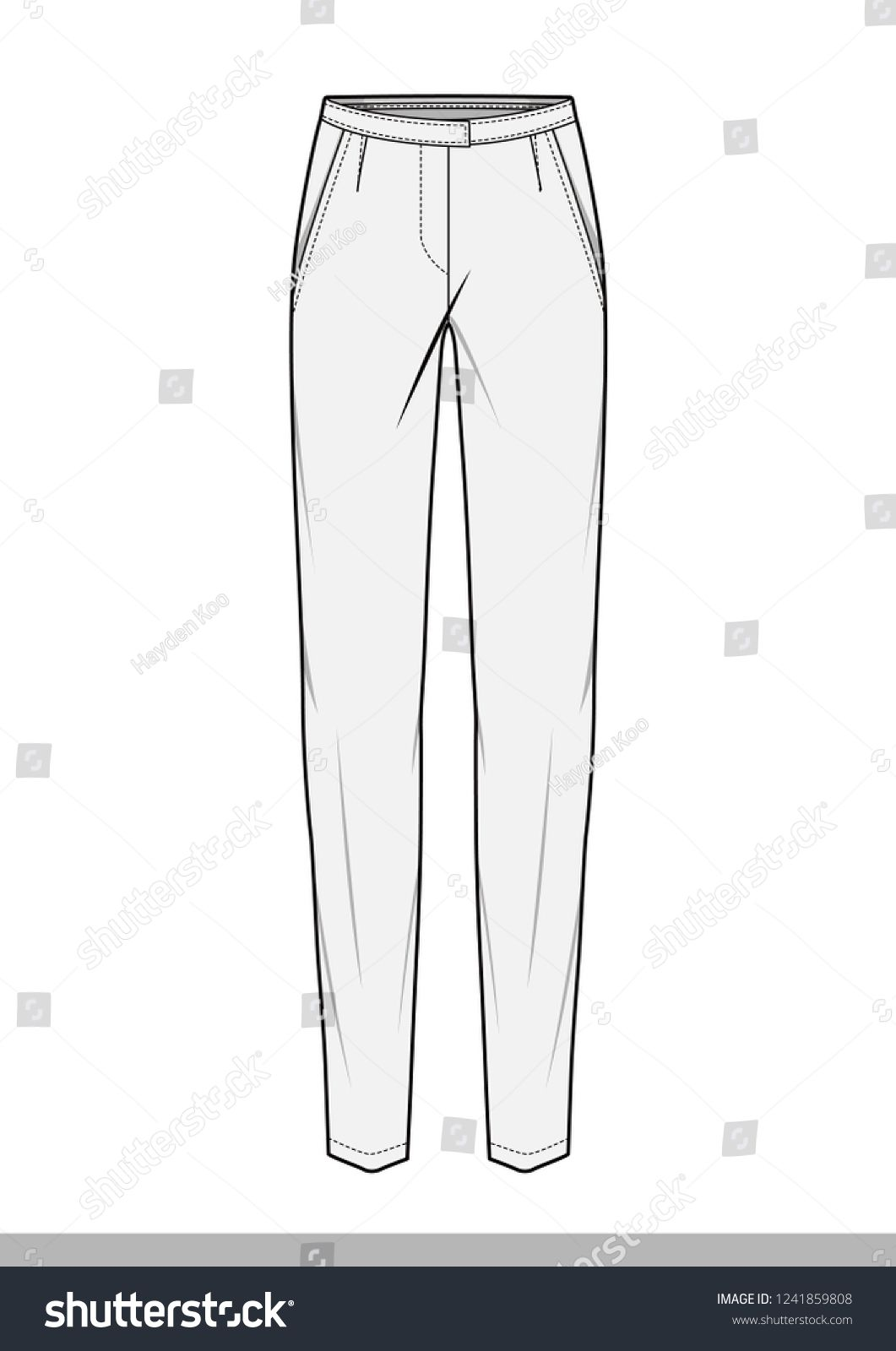 Pants Fashion Flat Technical Drawing Template Diseno De Ropa Figuras De La Moda Bocetos De Ropa