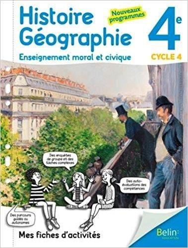 Telecharger Mes Fiches D Activite D Histoire Geographie Emc