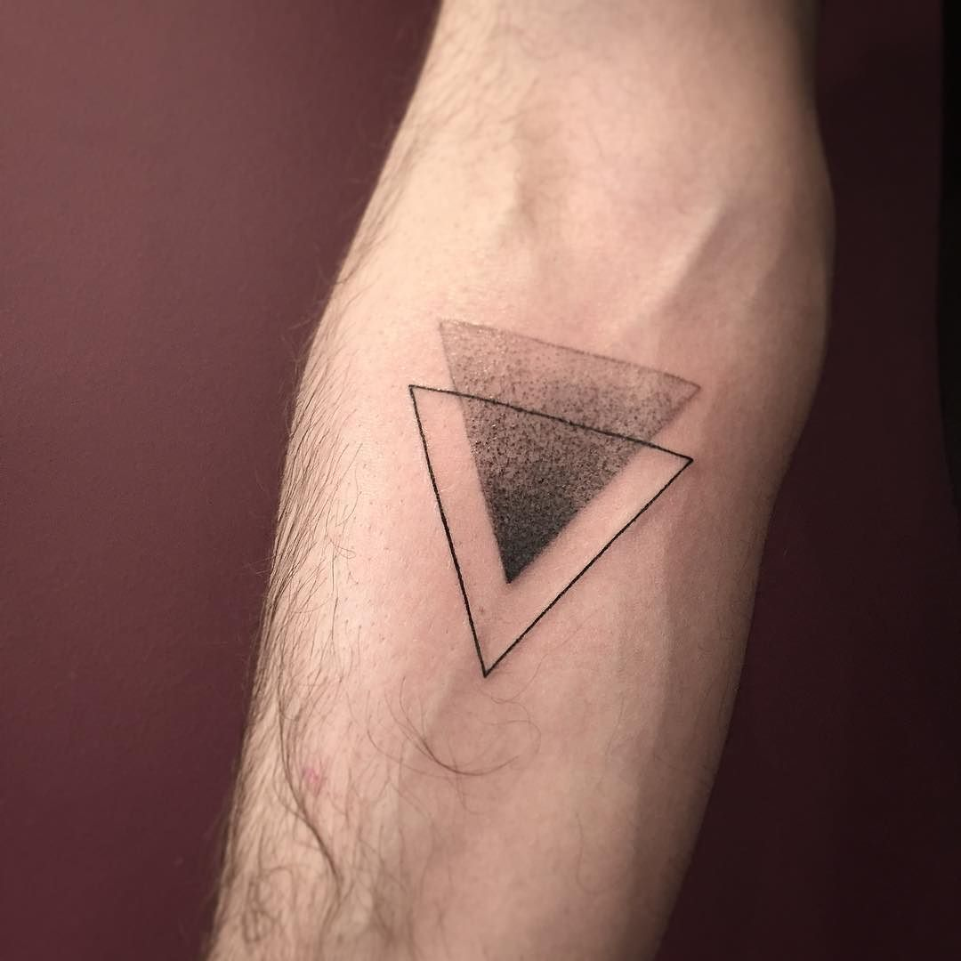 Romain Kew On Instagram Triangle Romainkew Triangle Triangletattoo Dot Dotwork Dottattoo Dotworktattoo Glyph Tattoo Tattoos For Guys Geometric Tattoo