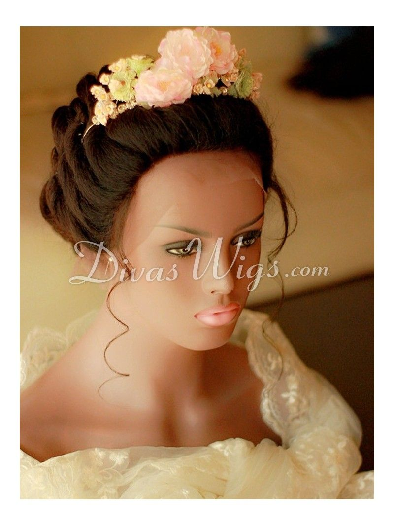Wedding Hairstyle Human Hair Full Lace Wig