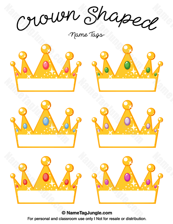 photograph about Printable Crown called Pin as a result of Muse Printables upon Standing Tags at