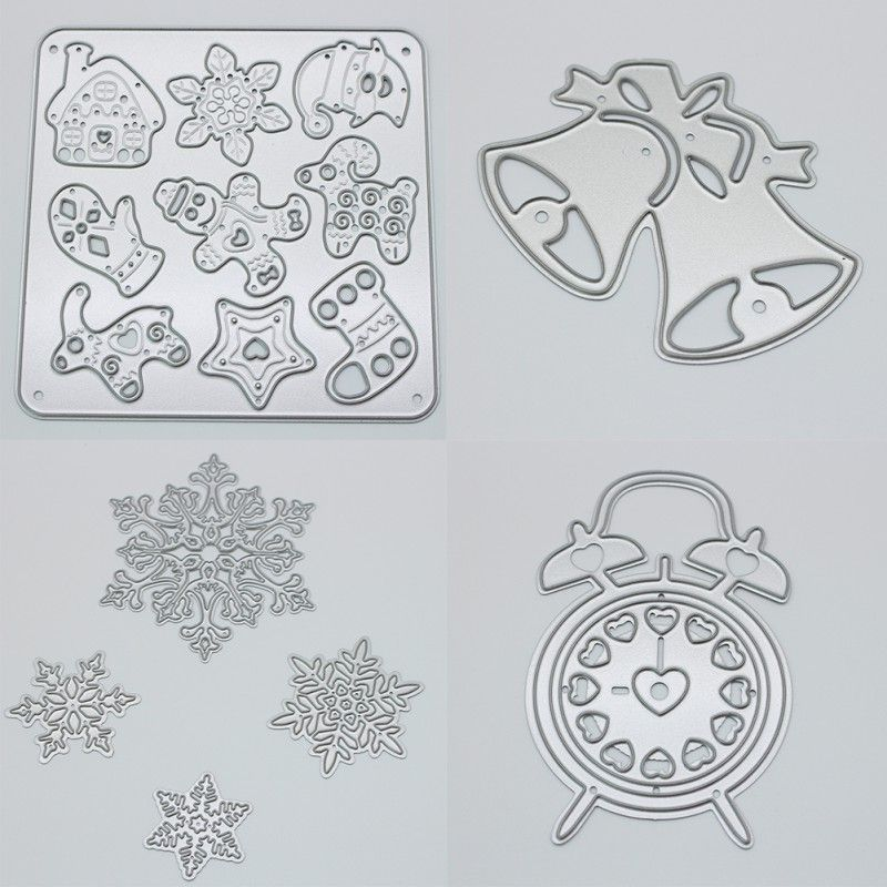 Xmas Candle Metal DIY Cut Die Stencil Scrapbook Album Paper Card Emboss Craft ER