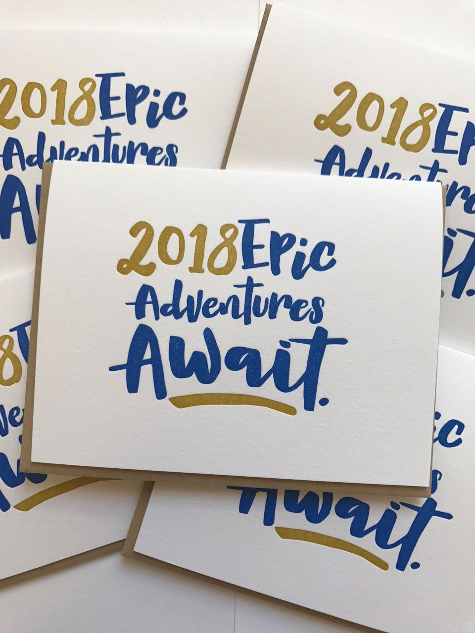 2018 new year card  epic adventures await  new year card