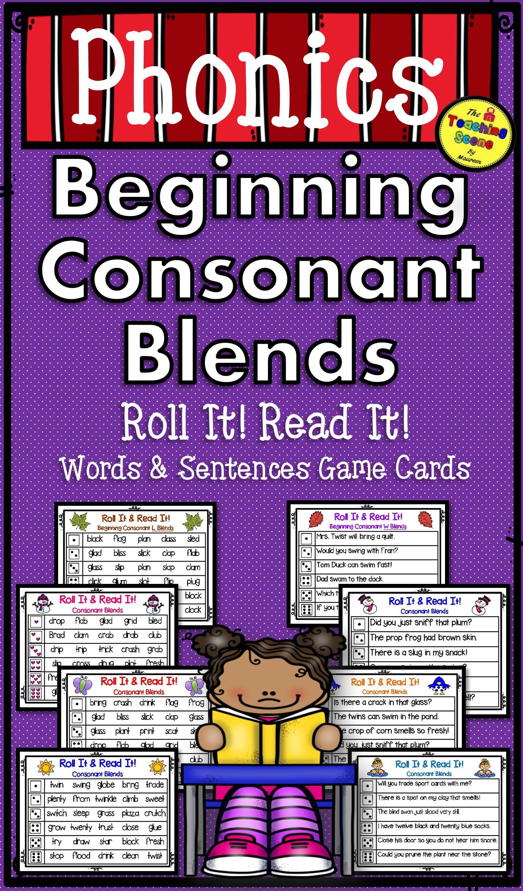 Beginning Consonant Blends Seasonal Roll It Read It
