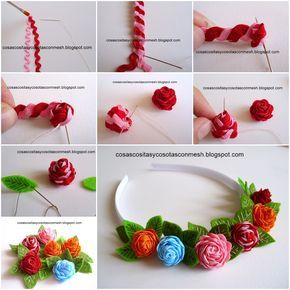 DIY Delicate Headbands Decorated with Roses