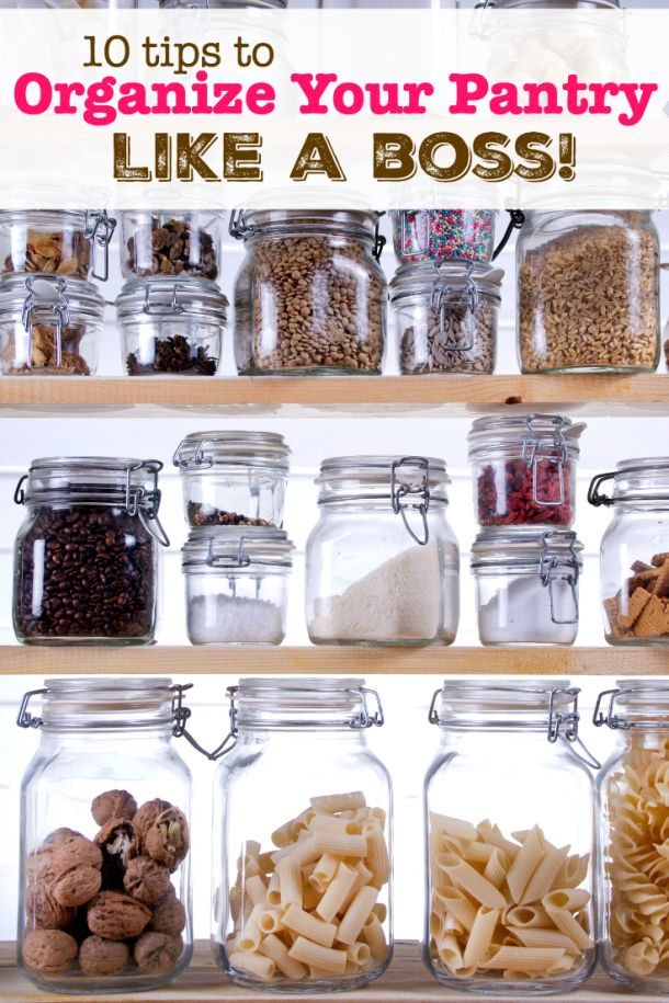 How to Organize Your Pantry in 10 Steps - Having a clean and organized pantry makes working in the kitchen so much more enjoyable! #ad