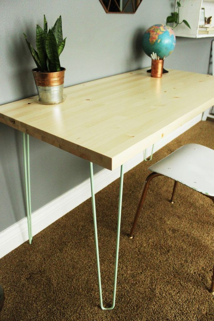 DIY Contemporary Hairpin Leg Desk Hairpin leg desk
