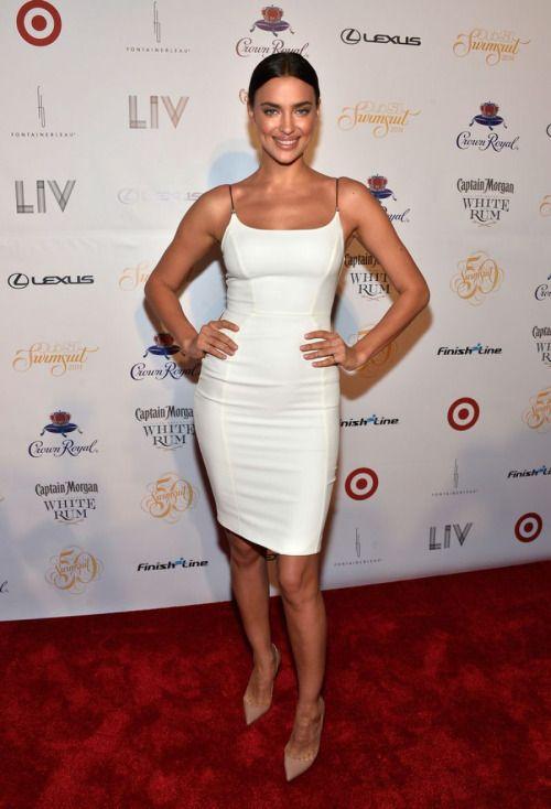 Irina Shayk white dress