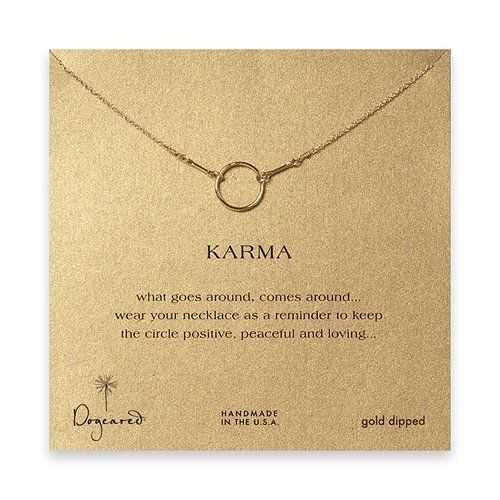 DOGEARED- Karma Necklace in Gold Dip Dogeared Jewels & Gifts. $75.00