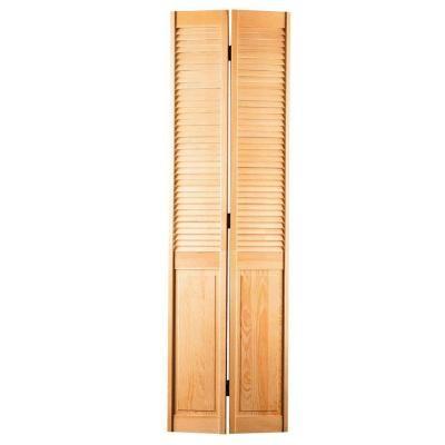 Masonite Smooth Half Louver Unfinished Pine Interior Closet Bi Fold