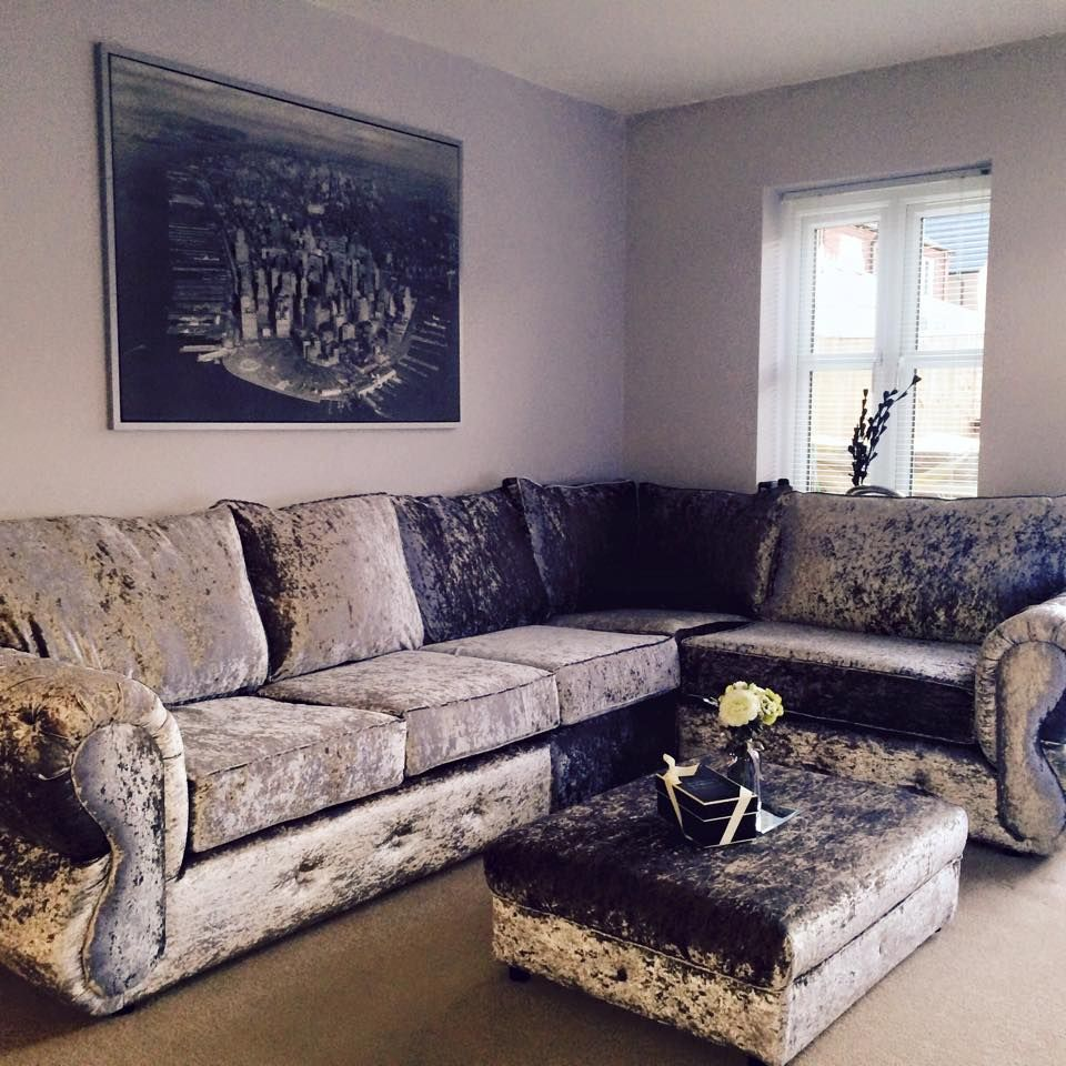 4 Seat Chesterfield Corner Any Colour Available Bespoke Made To Order Only 699 Crushed Velvet Living Room Velvet Sofa Living Room Velvet Living Room