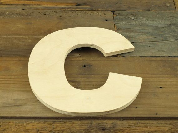 Unfinished 10 Inch Decorative Wooden Letter C By Lettercraftpdx