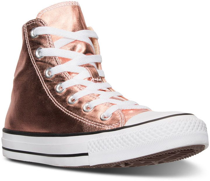 74eb0df75b11 Converse Chuck Taylor High-Top Metallic Leather Casual Sneakers from Finish  Line