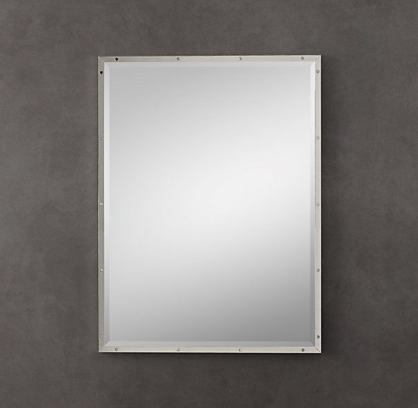 Bathroom Mirrors Polished Nickel bistro polished nickel mirrors | restoration hardware | pinterest