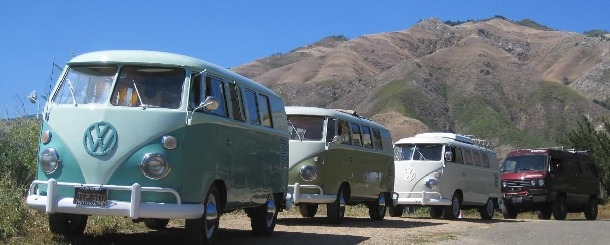 VW Camping on the Central California Coast Central coast