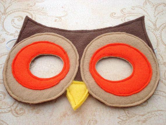 Owl antifaz fieltro owls b hos para paula costume - Disfraces de buhos ...