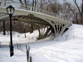 Snowy Gothic Bridge