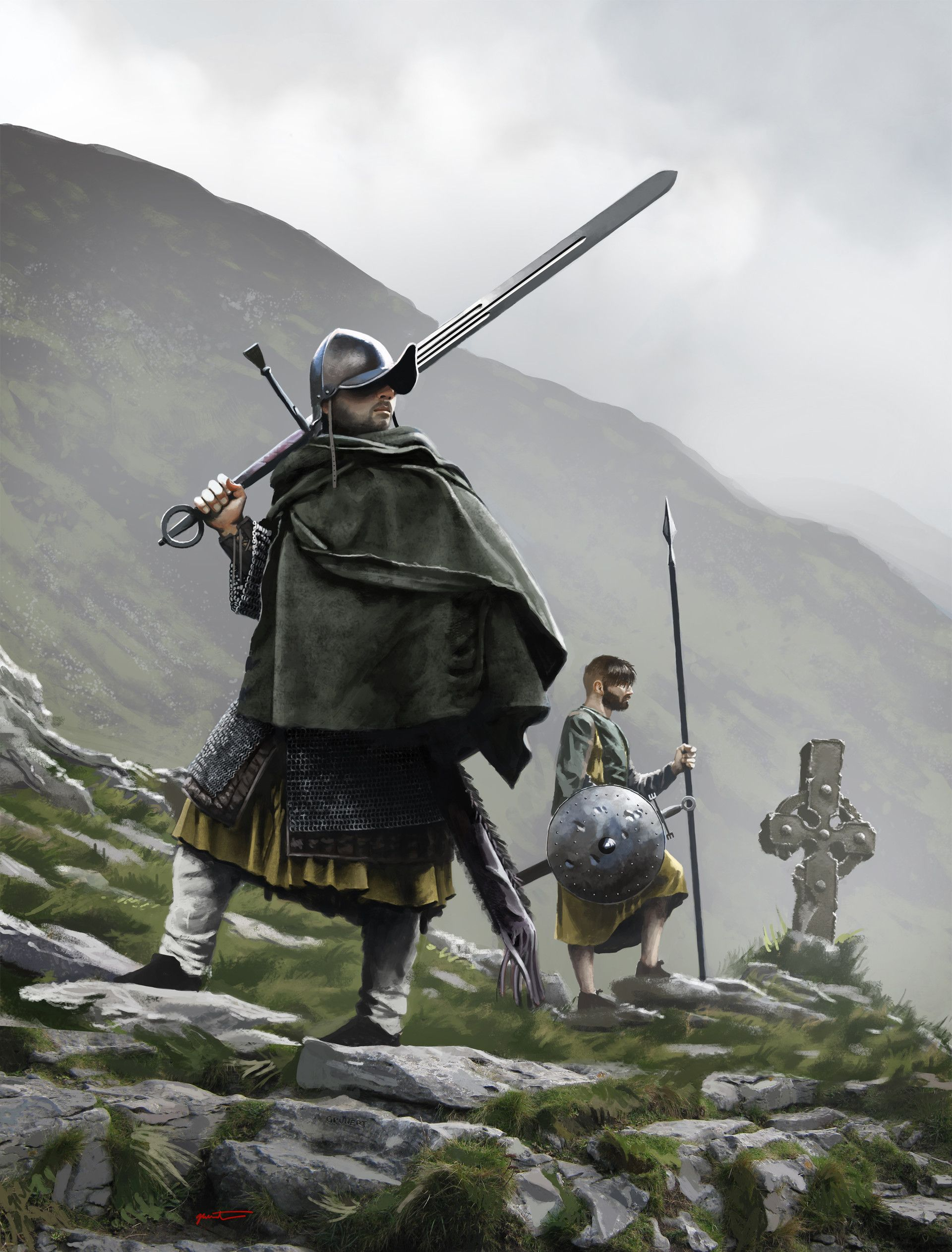 ArtStation - Irish Gallowglass warrior and Irish Kern, Marc Grunert